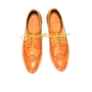 NEW ASOS Camel colored Leather Oxfords Brogues
